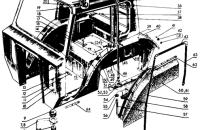 Кабина. Пол кабины Трактор МТЗ 82 Р