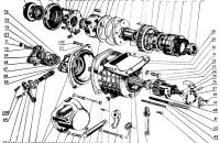 Механизм передачи и включения пускового двигателя Трактор МТЗ 82 Р