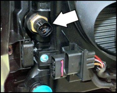 замена датчика включения вентилятора