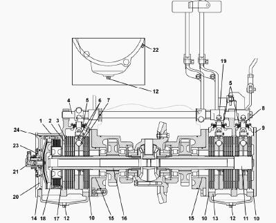 Рабочие тормоза МТЗ-1221